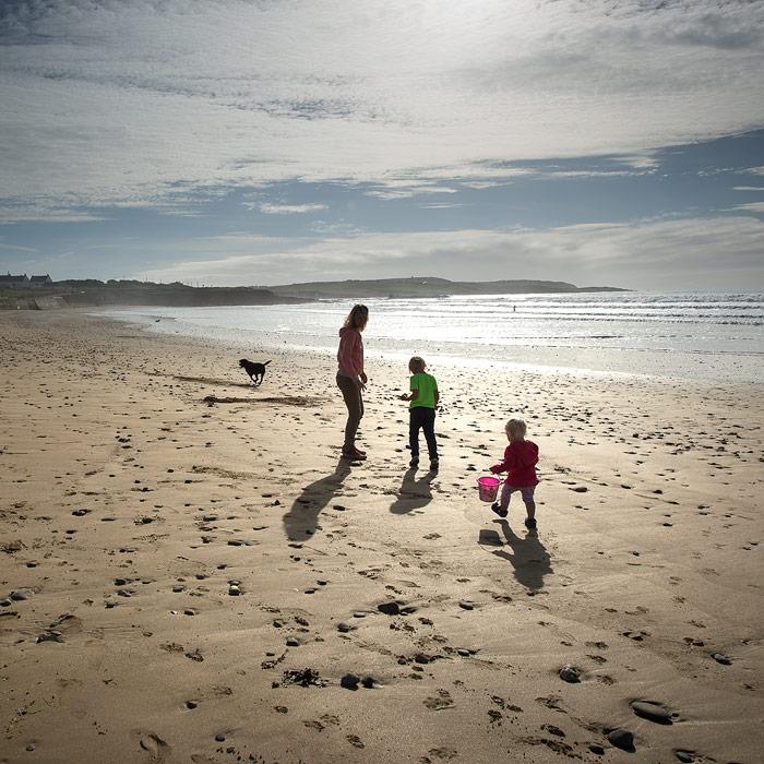Family at Garretstown Beach Kinsale